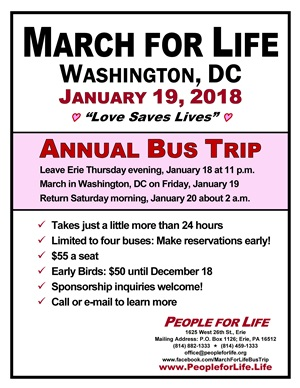 March for Life Bus Trip
